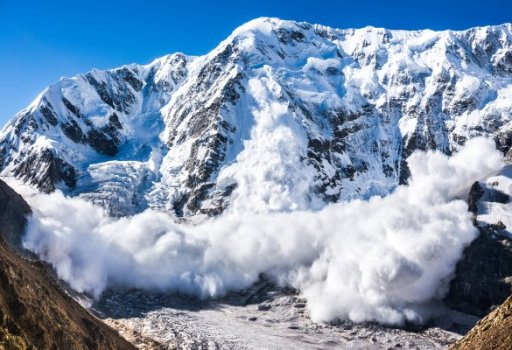 Avalanche in the Caucasus.