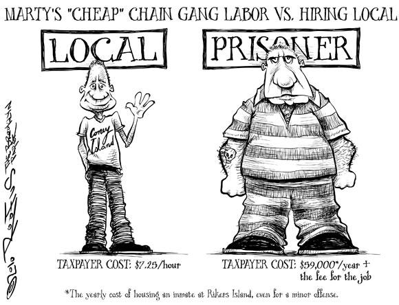 Back to the future: convict labor returns to America (a