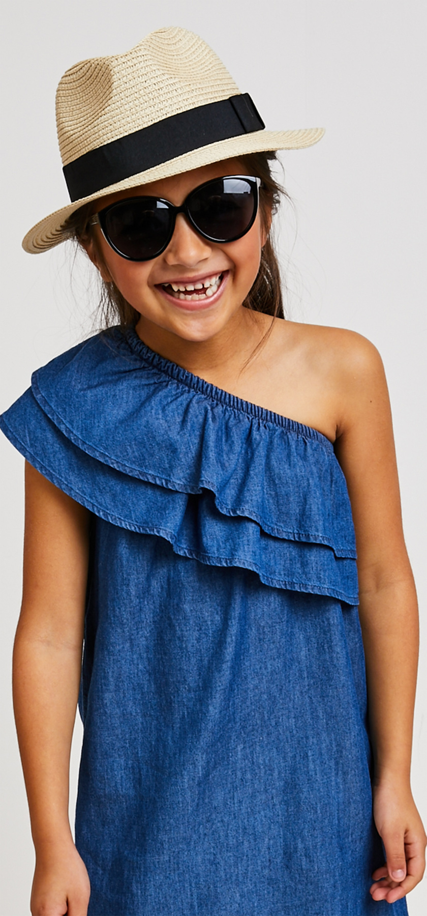 one shoulder dress hat