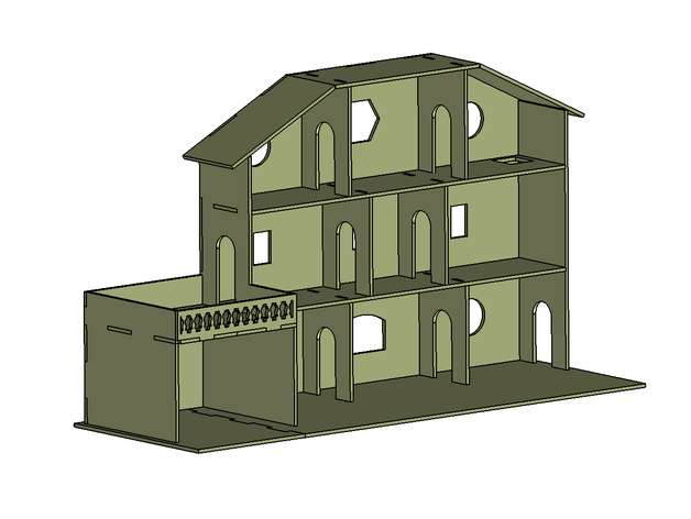 Maison adaptée aux Playmobil