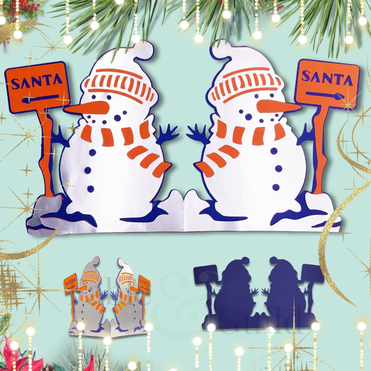 Printable christmas paint your own cookie bag toppers. Stunning 3d Snowman Svg Cut File Card Fable Guild