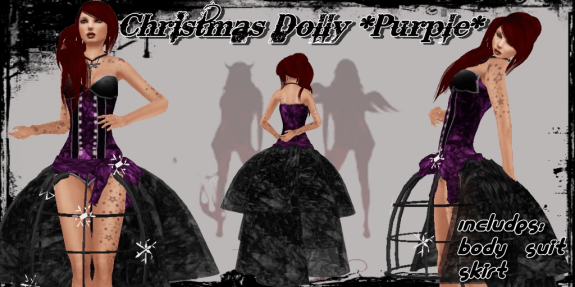 Christmas Dolly Purple