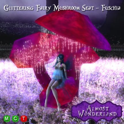 Glittering-Fairy-Mushroom-Seat---Fuschia