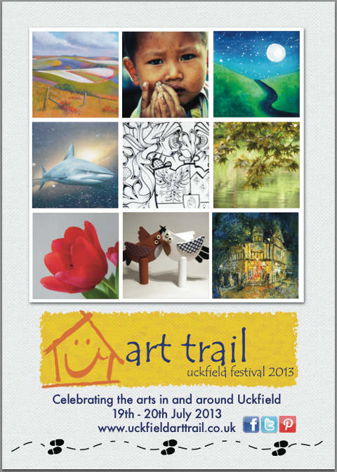 Uckfield Art Trail Poster by Natalie Banton
