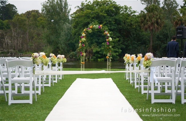 Botanical Garden Wedding Ceremony Fables in Fashion