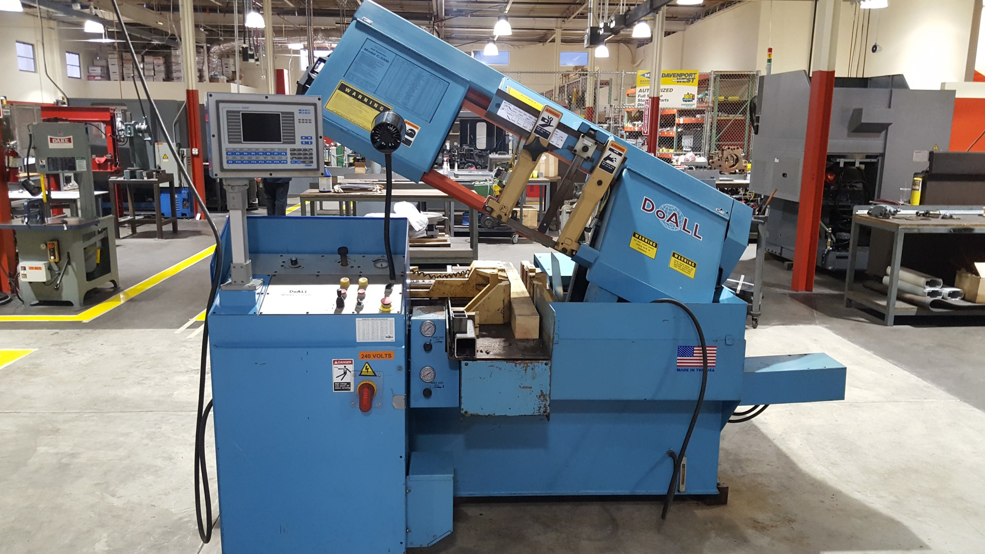 hight resolution of do all model c 3300 nc band saw
