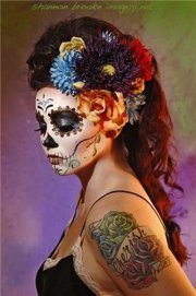 skeleton halloween hair 15
