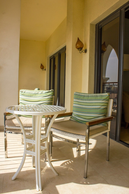Balcony overlooking The Ritz-Carlton Abu Dhabi resort
