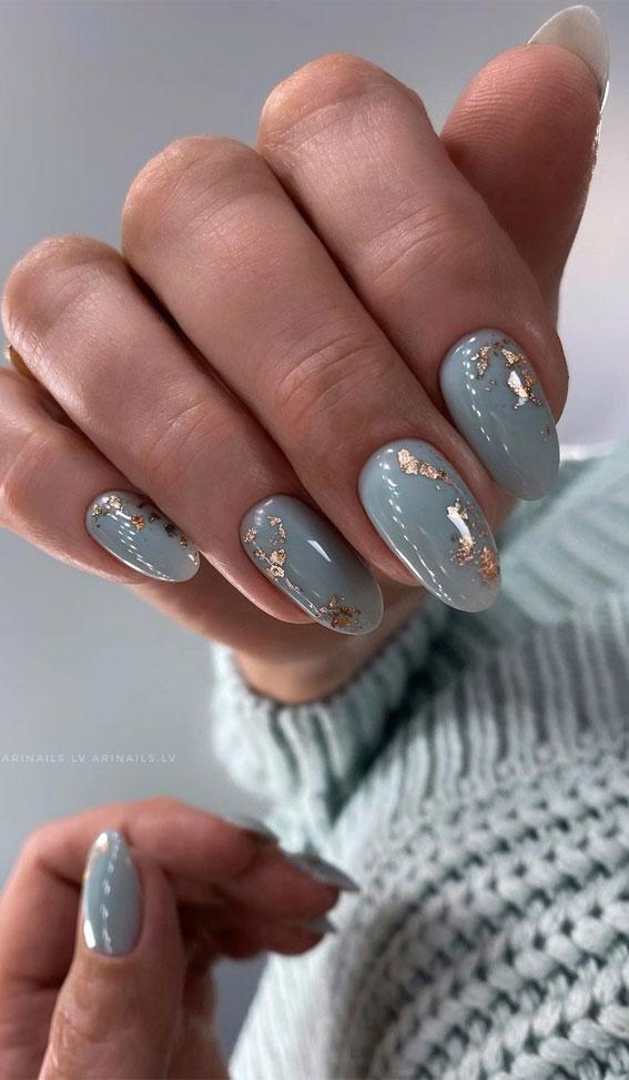 Blue Grey Nail Polish : polish, Stylish, Designs, Pretty, Every, Angle, Nails