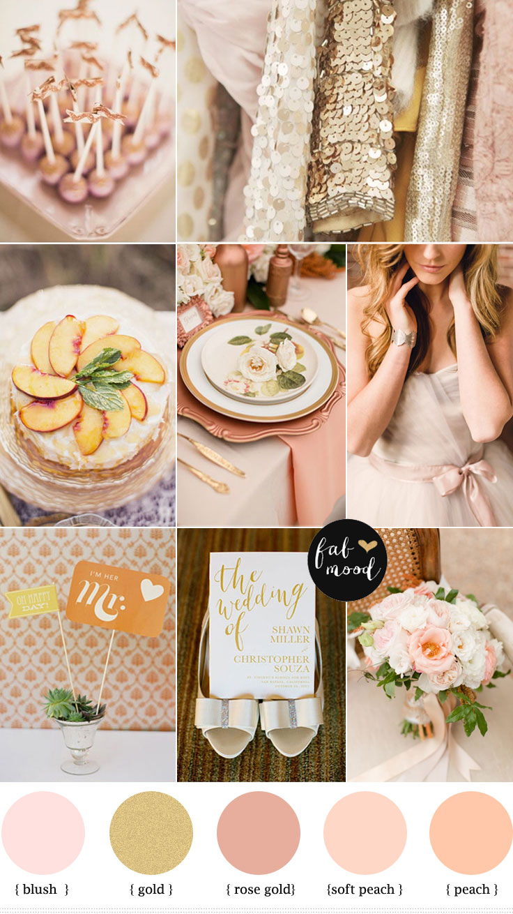 gold peach blushblush peach and gold wedding