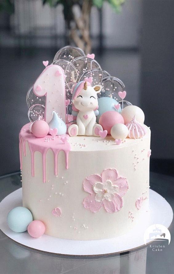 15 Birthday Cake Ideas Girl : birthday, ideas, Cutest, First, Birthday, Ideas,, Cakes