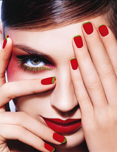 Red And White Nail Art Designs Emsilog
