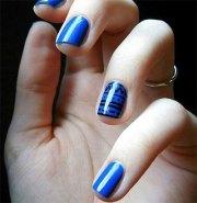 amazing blue nail art design &