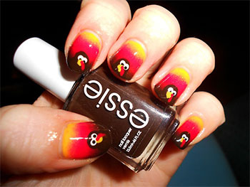 Cute Easy Thanksgiving Nail Art Designs Ideas 2017