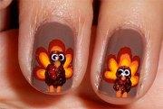 cute & easy thanksgiving nail art