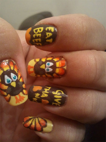 Thanksgiving Nail Art Designs For Fall Season