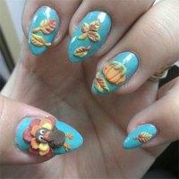 Cute & Easy Thanksgiving Nail Art Designs & Ideas 2013 ...