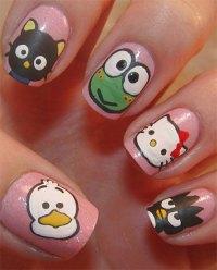 Cute & Simple Hello Kitty Nail Art Designs & Stickers