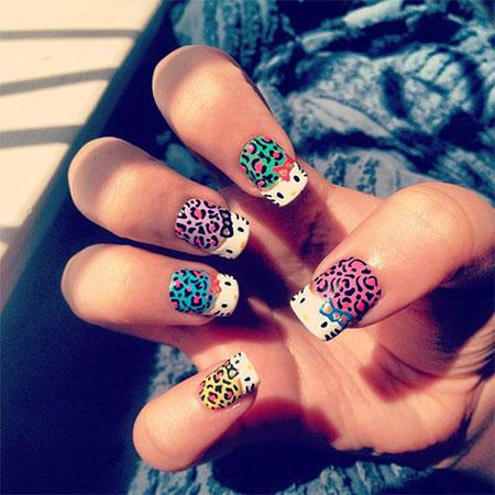 O Kitty Gel Nail Art Designs