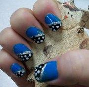 cute simple blue nail art design