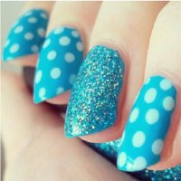 Cute Yet Simple Blue Nail Art Designs & Ideas 2013/ 2014 ...
