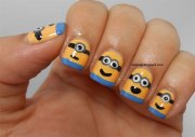 minions nail art ideas design