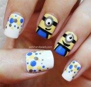 minions nail art ideas design