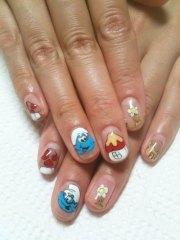 simple & easy smurf nail art design