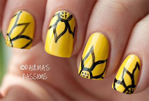 Very Easy Yellow Nail Art Designs Ideas 2017 Image Source