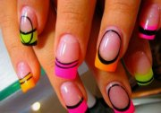 amazing acrylic nail art design