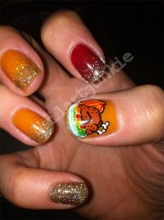 awesome thanksgiving nail art design