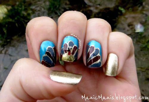 Awesome Thanksgiving Nail Art Deigns Ideas 2017