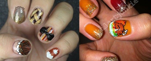 Awesome Thanksgiving Nail Art Designs Ideas 2017