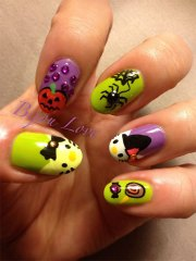 easy kitty nail art design
