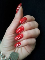 easy red nail art design & ideas