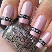 inspiring pink nail art design
