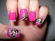 pink nail art design & ideas 2013
