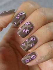simple & easy flower nail art design