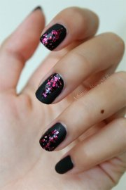 easy black nail art design