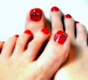 amazing christmas toe nail art