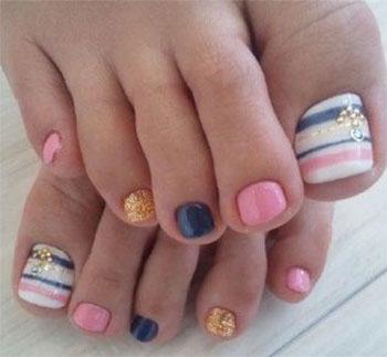 Best New Year Toe Nail Art Designs Ideas