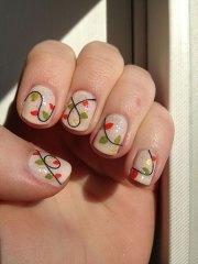 christmas light nail art design