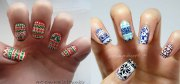 christmas sweater nail art design