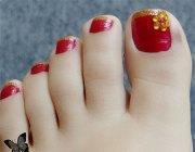 cool & pretty toe nail art design