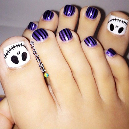 Cool & Pretty Toe Nail Art Designs & Ideas For Beginners