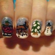 cool winter nail art design &
