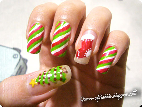 Cute Easy Christmas Nail Art Designs Ideas 2017