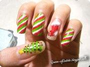 cute & easy christmas nail art