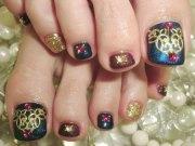 cute toe nail art design & ideas