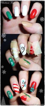 easy christmas nail art tutorials